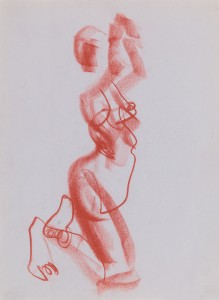 (1) 1 min drawing, conte on paper, 386x626cm, 2014